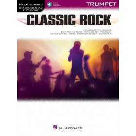 Instrumental Play Along Classic Rock Trompette + Audio Online