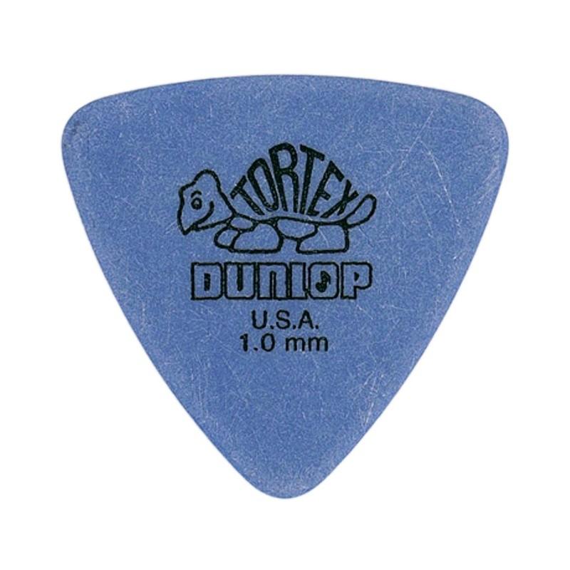 DUNLOP Médiator TORTEX Triangle 1 mm Bleu
