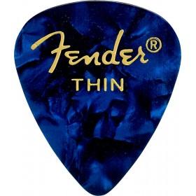 FENDER 12 Médiators Premium Celluloid Thin Blue Moto