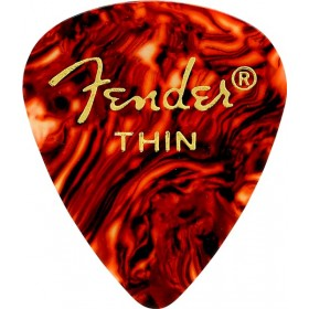 FENDER 12 Médiators Classic Celluloid Thin Shell