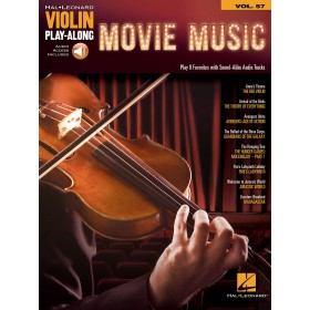 Violin Play Along Movie Music Volume 25 + Audio Online