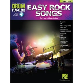 Drum Play Along Easy Rock Songs Volume 42 + Audio Online