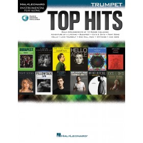 Instrumental Play Along Top Hits Trompette + Audio Online
