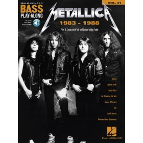 Bass Play Along Metallica 1983-1988 + Audio Online