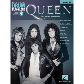 Drum Play Along Queen Volume 29 + Audio Online