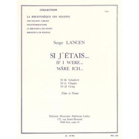 Si J'étais Serge LANCEN Flûte Traversière et Piano