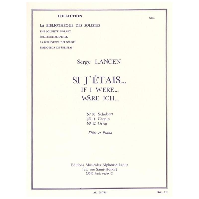 SI J'étais Serge LANCEN Flûte et Piano