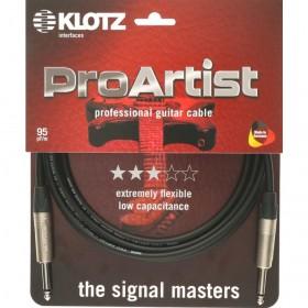 KLOTZ PRO ARTIST CABLE JACK / JACK Neutrik 3 M Noir