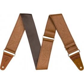 FENDER Sangle Tooled Leather Marron