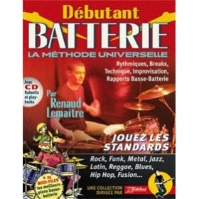 METHODE DEBUTANT BATTERIE + CD