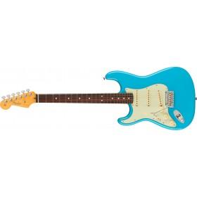 FENDER American Professional II Stratocaster Miami Blue Rosewood Gaucher