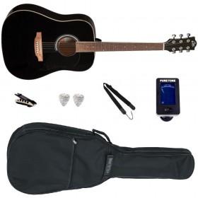 Pack Guitare Acoustique EKO RANGER 6 Black