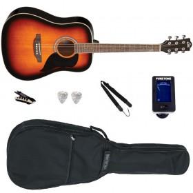 Pack Guitare Acoustique EKO RANGER 6 Brown Sunburst