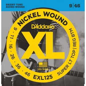 D'ADDARIO EXL125 SUPER LIGHT TOP / REGULAR 9-46