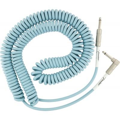 FENDER Cable Spirale Original Daphne Blue Jack / Jack Coudé 9 m