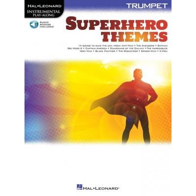 Instrumental Play Along Superheros Themes Trompette + Audio Online