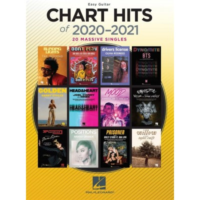 Chart Hits of 2020-2021 Easy Guitar