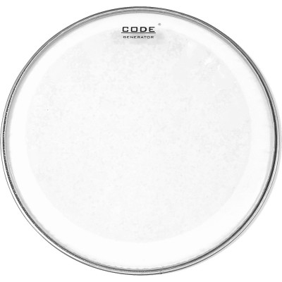 "CODE DRUMHEADS GENERATOR Transparente 14"""