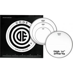 "CODE DRUMHEADS PACK GENERATOR Sablée 10""/12""/14""+ DNA 14"""