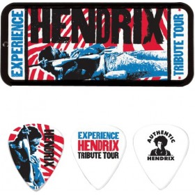 DUNLOP BOITE 6 MEDIATORS JIMI HENDRIX TRIBUTE TOUR