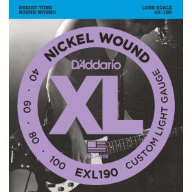 D'ADDARIO EXL190 CUSTOM LIGHT GAUGE 40-100