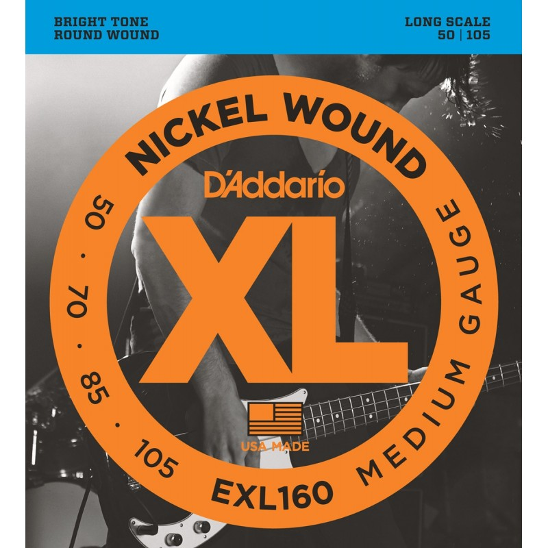 D'ADDARIO EXL160 MEDIUM GAUGE 50-105
