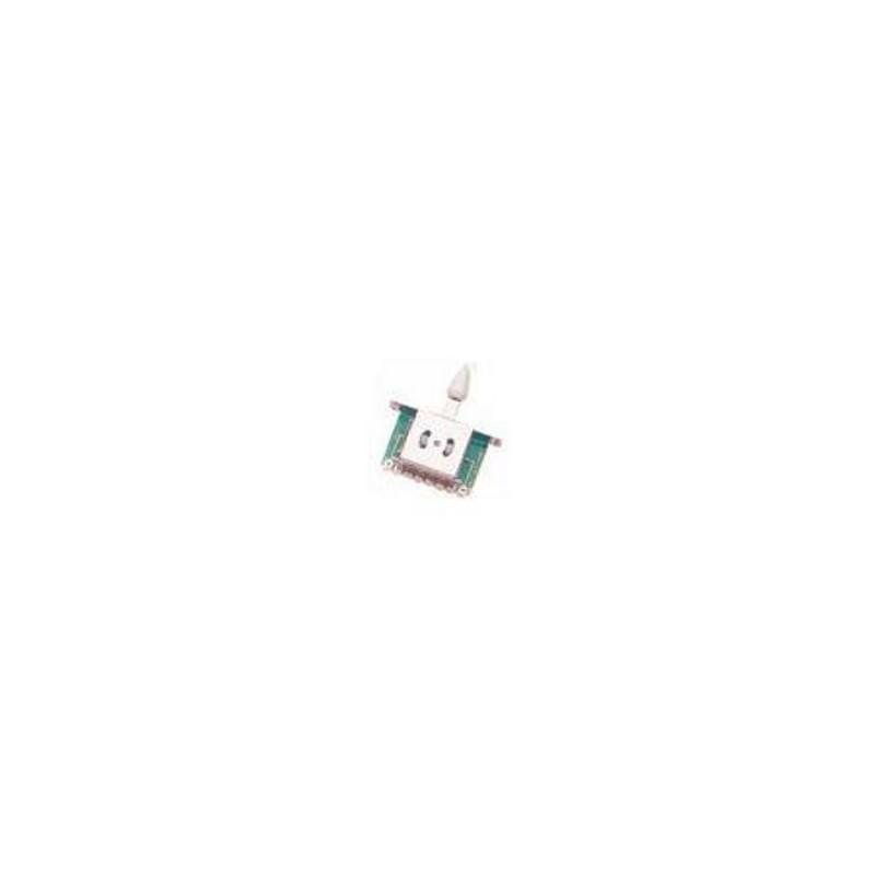 YELLOW PARTS EZ1188W Selecteur de Micro 5 positions Strat Blanc