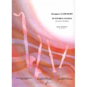 20 Etudes Faciles pour Clarinette Jacques LANCELOT